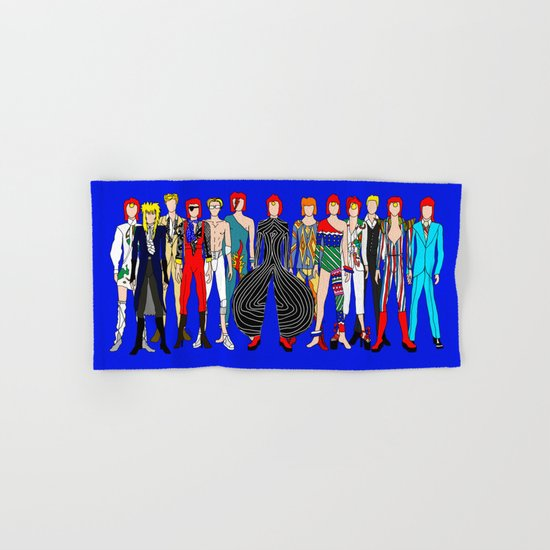 Blue Bowie Group Fashion Outfits Hand & Bath Towel