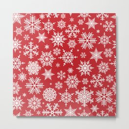 Christmas background with snowflake pattern Metal Print