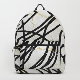 Abstract Mess - minimal, marbled, simple, modern design Backpack