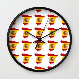 Flag of spain 3-spain,espana, spanish,plus ultra,espanol,Castellano,Madrid,Barcelona Wall Clock