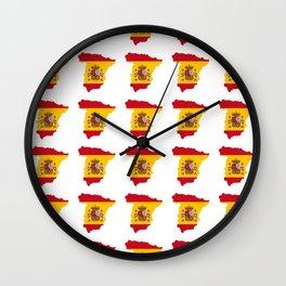 Flag of spain 3-spain,espana, spanish,plus ultra,espanol,Castellano,Madrid,Barcelona Wall Clock