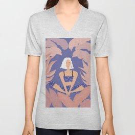 Yoa & Botanicals // Meditation Time // Illustration III Unisex V-Neck
