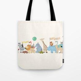 little safari parade Tote Bag