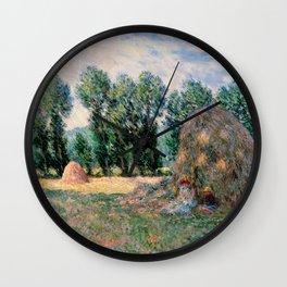 Claude Monet  -  Haystacks Wall Clock