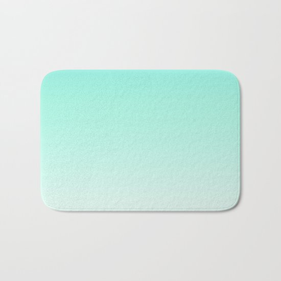 Ombre gradient digital illustration green, blue colors Bath Mat