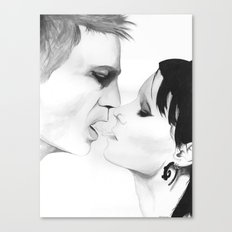Put your hand back in my shirt Canvas Print