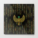 Egyptian Horus Falcon gold and color crystal by k9printart