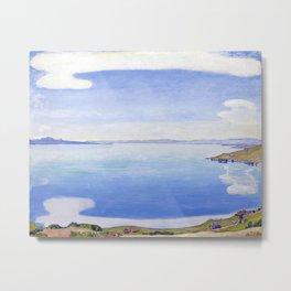 """Ferdinand Hodler, """" Lake Geneva seen from Chexbres """" Metal Print"""