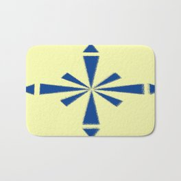 Blue Asterisk Bath Mat