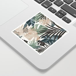 Tropical Jungle Leaves Pattern #13 (Fall Colors) #tropical #decor #art #society6 Sticker