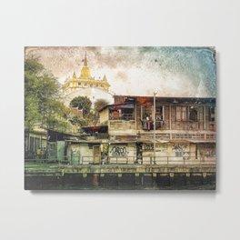 Golden Mount Temple Metal Print