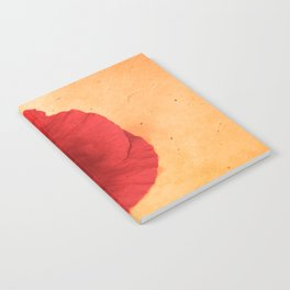 Lonesome Poppy Flower (Orange version) Notebook