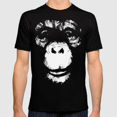 Everything's More Fun With Monkeys! MEDIUM Black Mens Fitted Tee