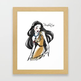 Pocahontas - Fairytale's Princess Collection by LeleDraw Framed Art Print