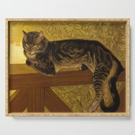"""Théophile Steinlen """"Cat on a Balustrade"""" Serving Tray"""