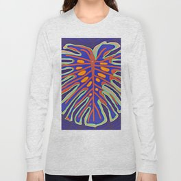 Monstera Flying to Summer Long Sleeve T-shirt