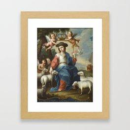 Miguel Cabrera - The Divine Shepherdess (La divina pastora) Framed Art Print