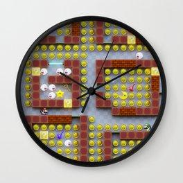 Pac-Men Bros On Clue Wall Clock
