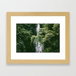 Waterfall in Hana Maui Framed Art Print