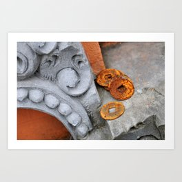 Coins in Bali Art Print