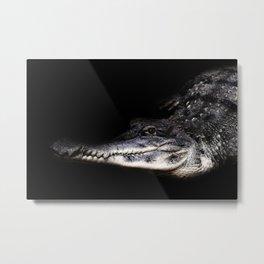 Crocodile Portrait Metal Print