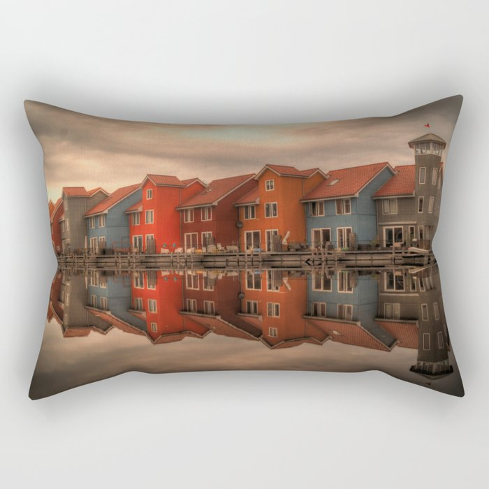 Groningen houses Rectangular Pillow