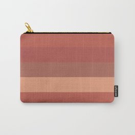 Warm Santa Fe Stripes - Variable Stripe Pattern in Dusky Rust Adobe Clay Earth Tones  Carry-All Pouch