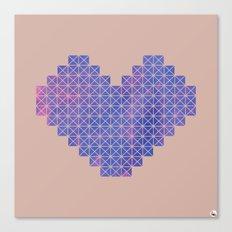 Heart X Purple Canvas Print