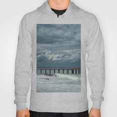 Storm over the pier of Miramar. Hoody