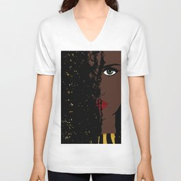 Iolana Black Queen Fashion art Unisex V-Neck
