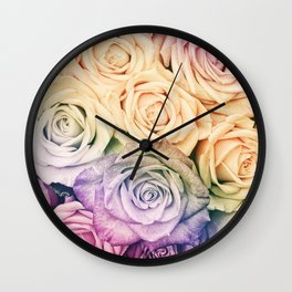 Some people grumble- Colorful Roses- Rose pattern Wall Clock