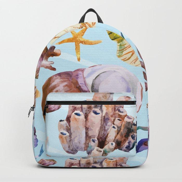 Marine Pattern 14 Backpack