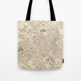 Vintage Map of York England (1851) Tote Bag