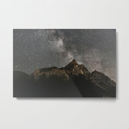 Milky Way Over Mountains - Landscape Photography Metal Print