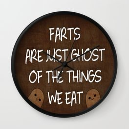 Farts Are Ghost Wall Clock