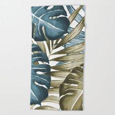 TROPICAL LEAVES 5 Beach Towel