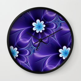 abstract flowerpattern -1b- Wall Clock