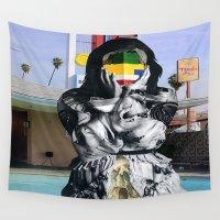 vagina Wall Tapestries featuring Ansiolitico by Oscar Varona