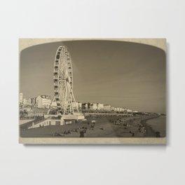 Ferris Wheel at Brighton, UK Metal Print