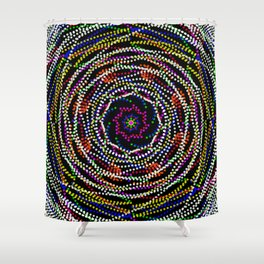 mardi gra beads Shower Curtain