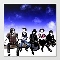 the breakfast club Canvas Prints featuring Breakfast by gottalovedrawing