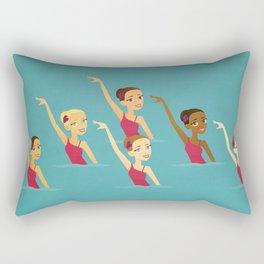 Synchronized Swimmers Rectangular Pillow