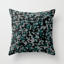 Tricolor military pattern Throw Pillow