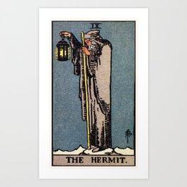 IX. The Hermit Tarot Card Art Print