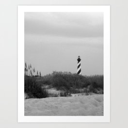 Hatteras Black & White Art Print