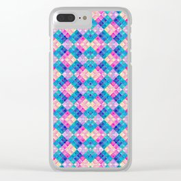 Pansy Checks Clear iPhone Case