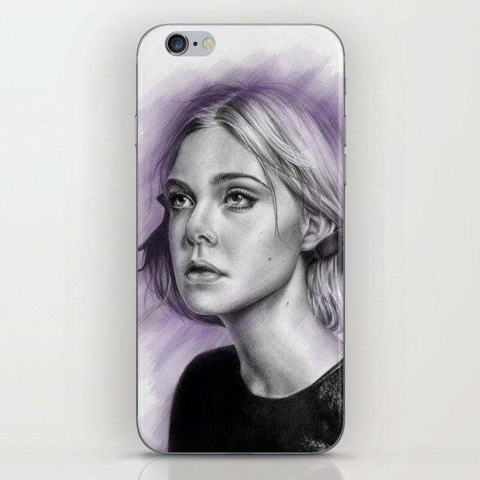 Elle Fanning Drawing - Spatter Series iPhone Skin