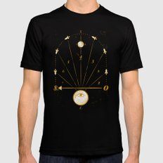 Time Travel X-LARGE Black Mens Fitted Tee