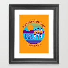 Point Breeze Marathon Framed Art Print