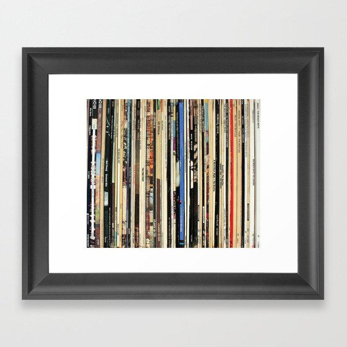Classic Rock Vinyl Records Gerahmter Kunstdruck